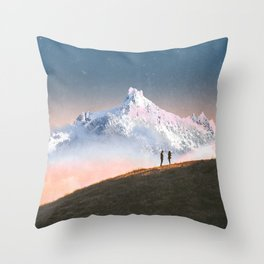 Couple on the Hill Throw Pillow