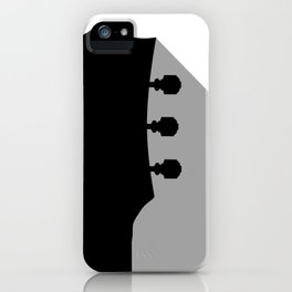 Guitar Headstock With Shadow iPhone Case