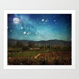 Starlit Vineyard II Art Print