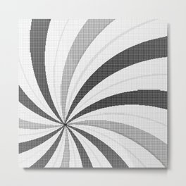 Pop Art Halftone Backdrop Metal Print