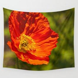 Orange Poppy Wall Tapestry