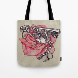 Owl Skeleton w/Rose Tote Bag
