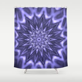 Purple ice Swirl mandala Shower Curtain