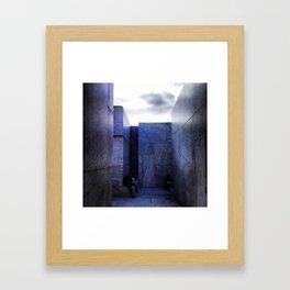 marble. Framed Art Print