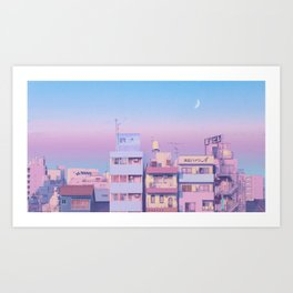 Morning Moon Art Print