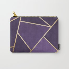 Beautiful Amethyst Gold Geometry Art Carry-All Pouch