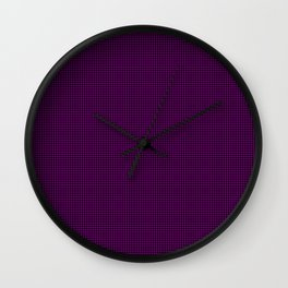 Dark Zombie Purple and Black Hell Hounds Tooth Check Wall Clock