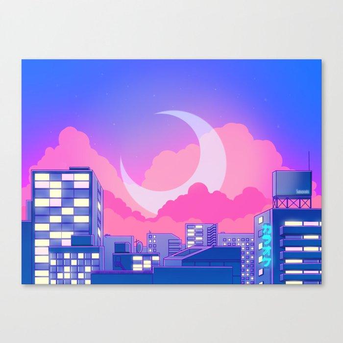Dreamy Moon Nights Leinwanddruck