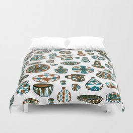 New Mexico Pottery Duvet Cover