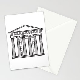 Acropolis Athens Greece Black and White Stationery Cards