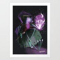 wizard Art Prints featuring Wizard by David Pavon