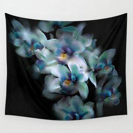 Teal Orchid Wall Tapestry