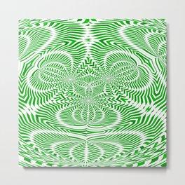 green arrows 2 : warped arrows Metal Print