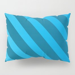Abstract Blue On Blue Stripes Pillow Sham