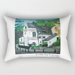 The Oldest Inn In England Acrylic Fine Art Rectangular Pillow