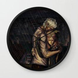Comfort in the Rain Wall Clock