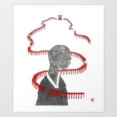 Fushimi Inari Taisha Gami Art Print