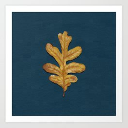 Fall Oak Leaf Painting Art Print