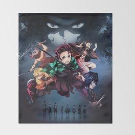 Blade of Demon Destruction Poster Throw Blanket