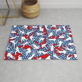American Football Player USA Flag Camo Camouflage Pattern Rug