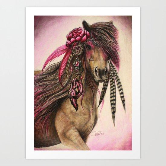 Magenta Warrior Art Print