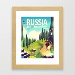 "Russia ""For adventure"" Travel poster. Framed Art Print"