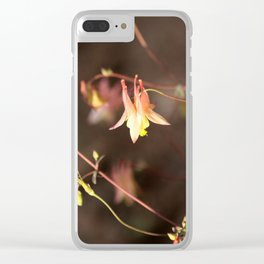 Pink Columbine Clear iPhone Case