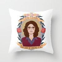 heymonster Throw Pillows featuring Liz Lemon by heymonster