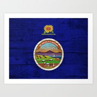 kansas Art Prints featuring Kansas by C Liza B