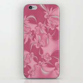 Pink Fractal Flowers iPhone Skin