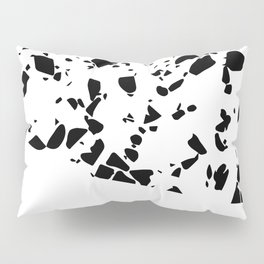 Terrazzo Texture Black and White #8 Pillow Sham