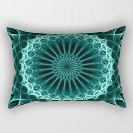 Mandala in malahite tones Rectangular Pillow