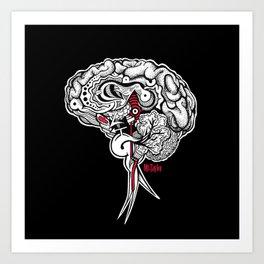 Intuition - Black Art Print