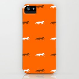 Orange Foxes! iPhone Case