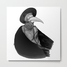 Plague Doctor by Studinano Metal Print