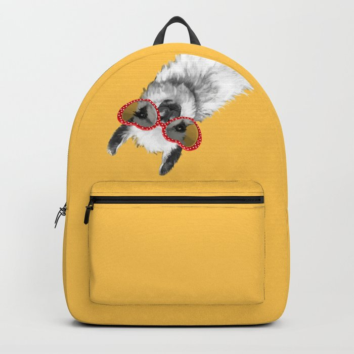 Fashion Hipster Llama with Glasses Rucksack