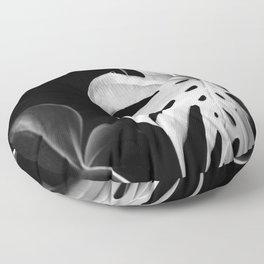 Monstera in Winter #1 Floor Pillow