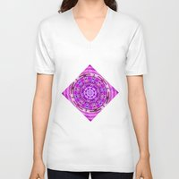 carousel V-neck T-shirts featuring Carousel by Elena Indolfi