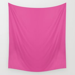 Raspberry Pink - solid color Wall Tapestry