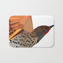 Flying bird Flicker Geometric Nature Bath Mat
