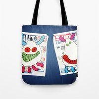 newspaper Tote Bags featuring Newspaper graffiti by very giorgious