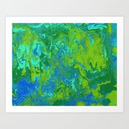 Paint Pouring 36 Art Print