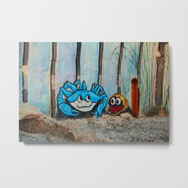 The Crab and the Clam Fort Myers Breakwall Metal Print