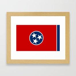 Tennessee State flag Framed Art Print