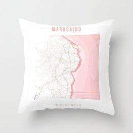 Map Chart #2 - MARACAIBO, ZULIA Throw Pillow
