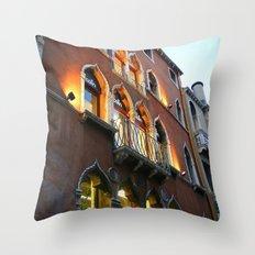 Lit Venice Residence Throw Pillow