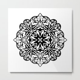 Polynesian style tattoo mandala Metal Print