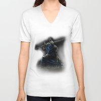 dark souls V-neck T-shirts featuring Artorias (Dark Souls fanart) by Artur Jag