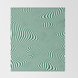 DISTORTION GREEN Throw Blanket