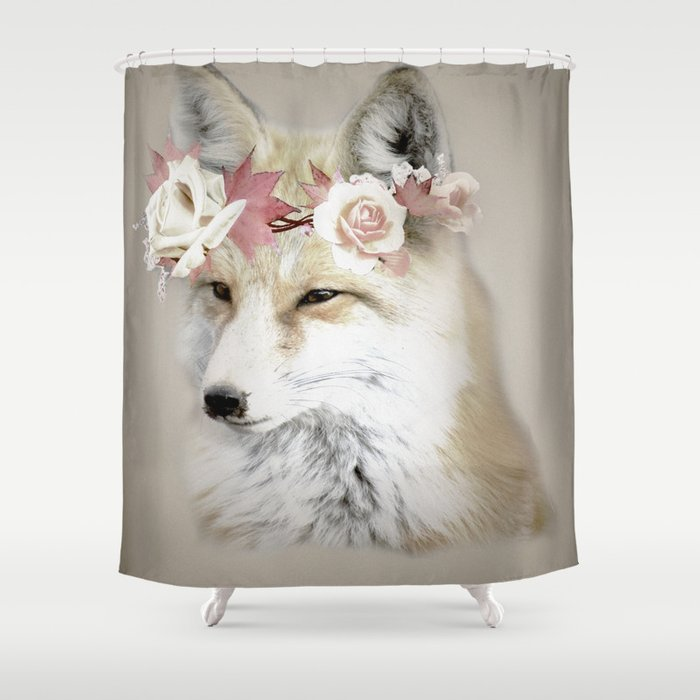 Flower Fox Shower Curtain